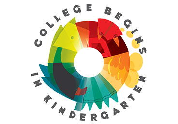 College Begins in Kindergarten Logo Design