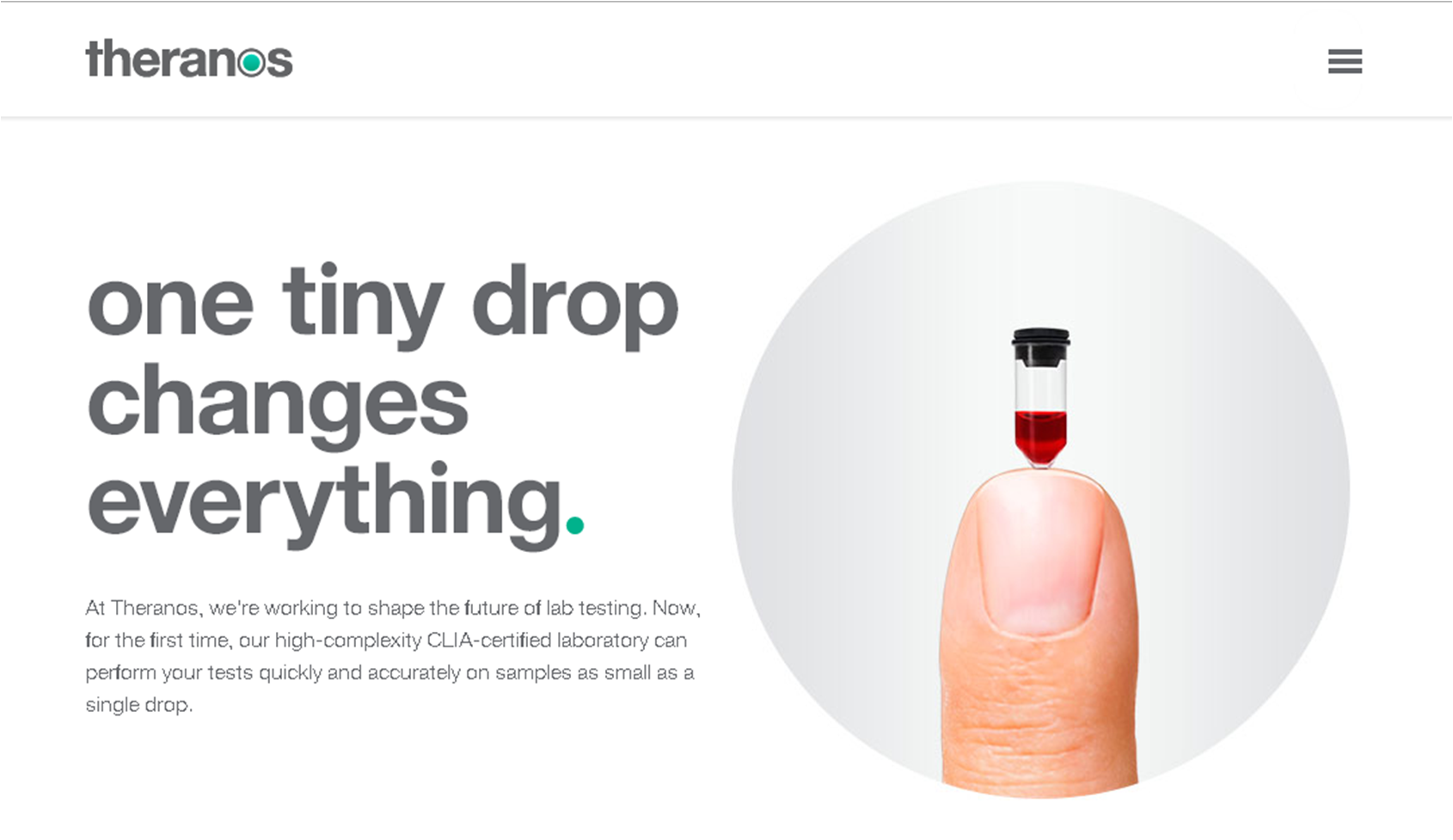 The Tragic Design and Marketing of Theranos | Design is within the fibers.